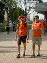 Holland supporters in Kharkov, Ukraine Stock Photos