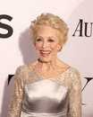 Holland taylor veteran tv actress arrives on the red carpet at the radio city music hall in new york for the th annual tony awards Royalty Free Stock Photos