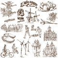 Holland traveling series netherlands collection of an hand drawn illustrations description full sized hand drawn illustrations Royalty Free Stock Photo