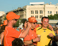 Holland and Ukrainian supporters in Kharkov Stock Photography