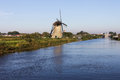Holland windmill in Kinderdijk Royalty Free Stock Image