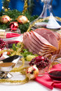 Holliday honey ham Stock Images