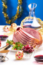 Holliday honey ham Royalty Free Stock Photography
