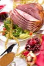 Holliday honey ham Royalty Free Stock Image