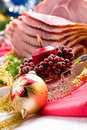 Holliday honey ham Royalty Free Stock Photos