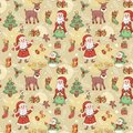Holliday seamless pattern with santa holiday christmas background Royalty Free Stock Images