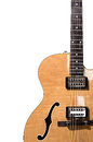 Hollow body electric guitar Royalty Free Stock Photo