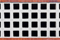 Hollow brick pattern bricks are setup in a used to make an open wall Royalty Free Stock Photo