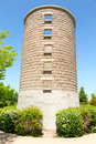 Hollow tower a in a summer park against blue sky Stock Photos