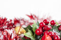 Holly Berries Christmas decoration Stock Image