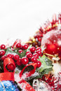 Holly Berries Christmas decoration Stock Photography
