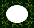 Holly berry christmas frame made of vector illustration Stock Photos