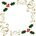 Holly Christmas frame Royalty Free Stock Images