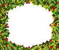 Holly Frame horizontal Royalty Free Stock Photos