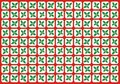Holly grid Royalty Free Stock Photo