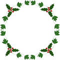 Holly and ivy yule frame illustration Royalty Free Stock Photography