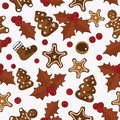 Holly pattern Stock Photography