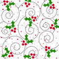 Holly pattern Stock Photos