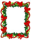 Holly Ribbons and Bows Frame