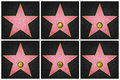 Hollywood Boulevard Stars Stock Photo