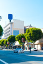 Hollywood boulevard a view of the in downtown los angeles area california usa Stock Photos