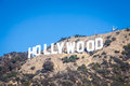 Hollywood famous landmark in los angeles california Stock Images