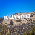 Hollywood famous landmark in los angeles california Royalty Free Stock Photo