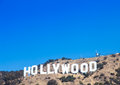 Hollywood famous landmark in los angeles california Royalty Free Stock Image