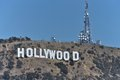 Hollywood sign famed atop mt lee in the hills above los angeles Stock Photo