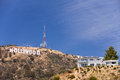 Hollywood sign on the hill in california valley Stock Photo