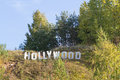 Hollywood sign on hill not located in los angeles Stock Photography