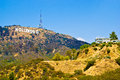 Hollywood sign the los angeles california Royalty Free Stock Image