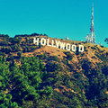 Hollywood sign in Mount Lee, Los Angeles, United States Stock Photo