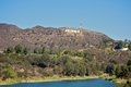 Hollywood sign photo of the famous and iconic in los angeles california Royalty Free Stock Photos