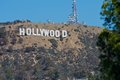 Hollywood sign photo of the famous and iconic in los angeles california Royalty Free Stock Image