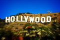 Hollywood sign photo of the famous landmark of the city of los angeles and symbol of the film industry Royalty Free Stock Photography