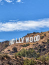 The hollywood sign scenic view of on mount lee los angeles california u s a Stock Photography