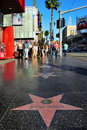 Hollywood Walk of Fame Royalty Free Stock Photos