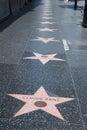 Hollywood walk of fame la Stock Photography