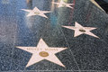 Hollywood walk of fame mickey mouse la Stock Photos