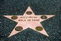 Hollywood walk of fame star including all categories film music radio tv Royalty Free Stock Photography
