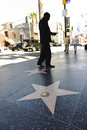 Hollywood walk of stars in los angeles a shot the california Royalty Free Stock Photo
