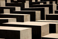 Holocaust memorial in Berlin, Germany Royalty Free Stock Photo