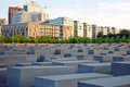 Holocaust memorial berlin germany may to murdered jews of europe in onmay concrete blocks are placed in sq meter Royalty Free Stock Images