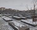 Holocaust memorial in Berlin Royalty Free Stock Photo