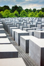 Holocaust momorial in Berlin Stock Images