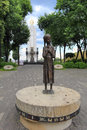 Holodomor memorial in kiev the candle of memory which means death by starvation is a to all victims famine and starvation which Royalty Free Stock Photos