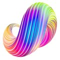 Holographic trendy abstract twisted shape design element Royalty Free Stock Photo