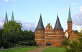Holsten gate in lubeck old town germany schleswig holstein region Stock Image