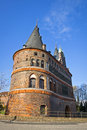 Holsten gate in lubeck old town germany schleswig holstein region Royalty Free Stock Photography